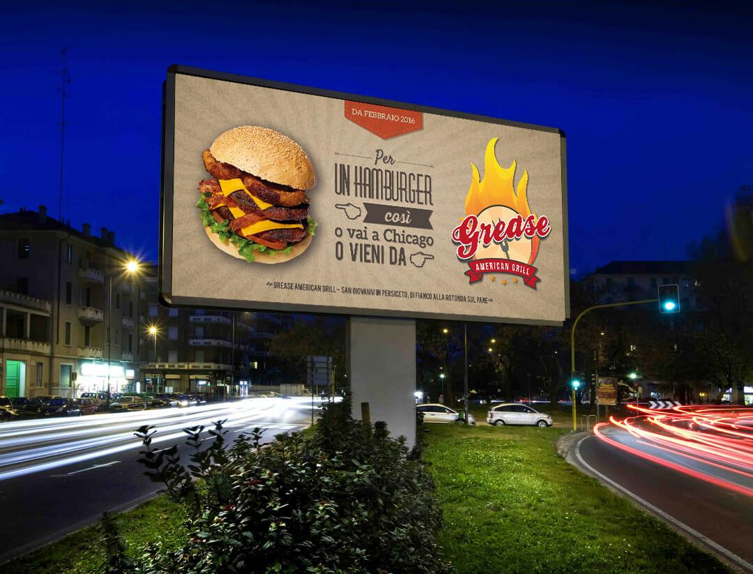Campagna pubblicitaria – Grease American Grill